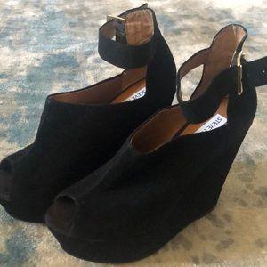 Wedge ankle strap heels